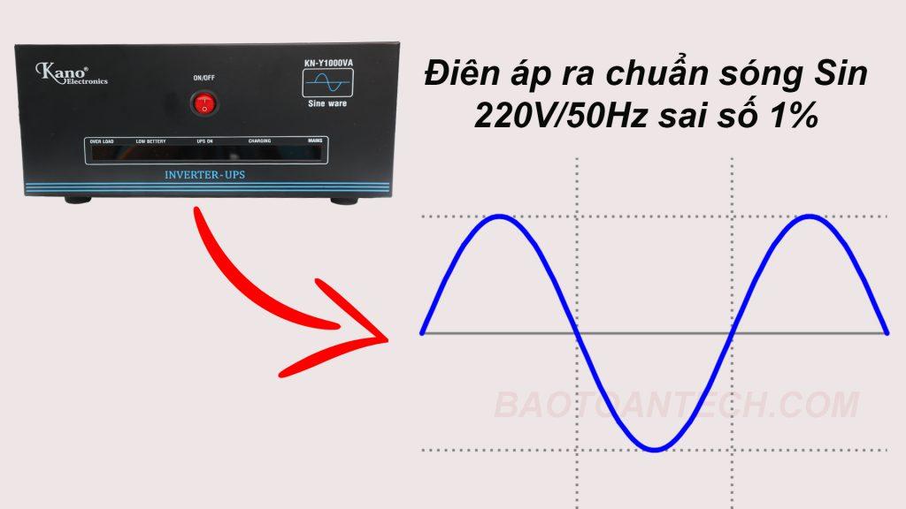 Bộ lưu điện UPS KANO cho ngõ ra chuẩn SIN
