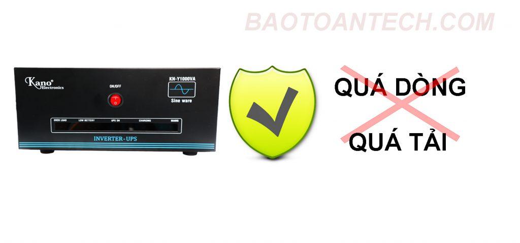 Bộ lưu điện UPS KANO bảo vệ khỏi quá dòng và quá tải