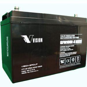 Acquy Vision 12V 100Ah Công nghệ AGM VRLA