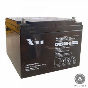 DAKIA cung cấp Acquy Vision 12V 24Ah CP12240E-X
