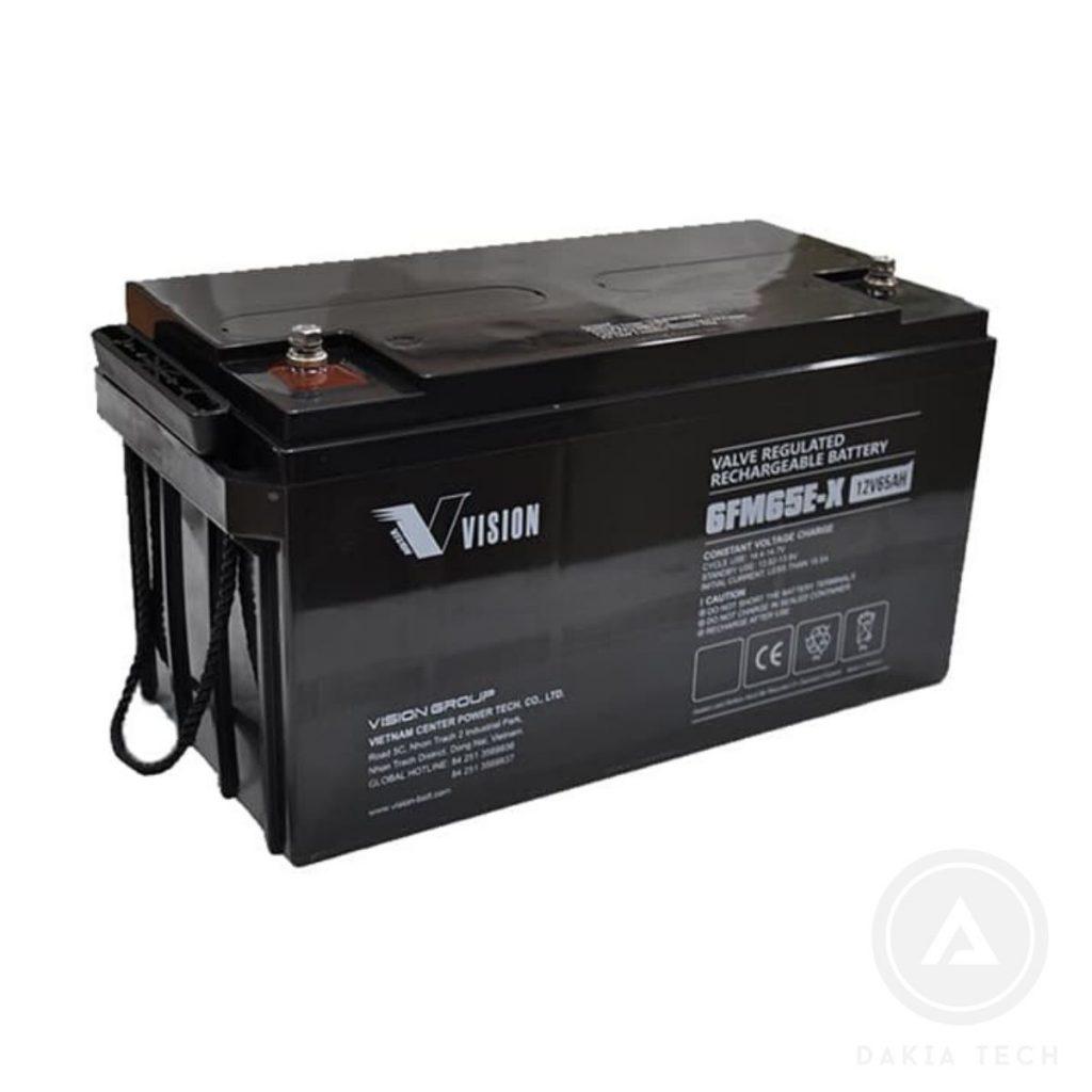 Acquy Vision 6FM65E-X 12V-65AH chuyên dùng UPS
