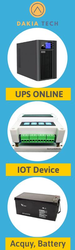 Slidebar DAKIATECH HOMEPAGE - UPS - Battery - IOT