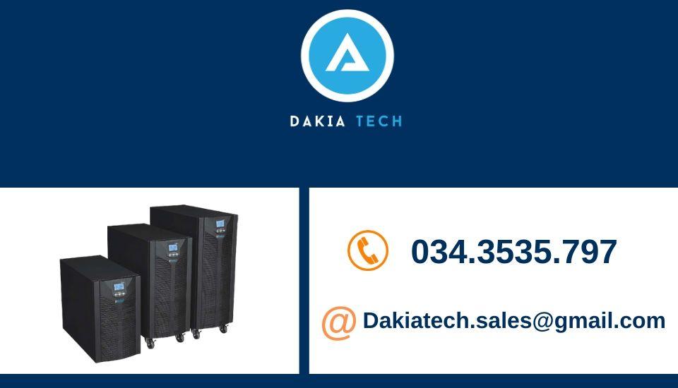 DakiaTech Chuyên cung cấp giải pháp Bộ Lưu Điện UPS, giải pháp Năng lượng