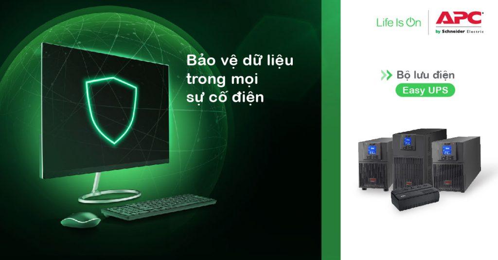Bộ Lưu Điện Easy UPS của APC sẽ giúp bạn bảo vệ dữ liệu máy tính