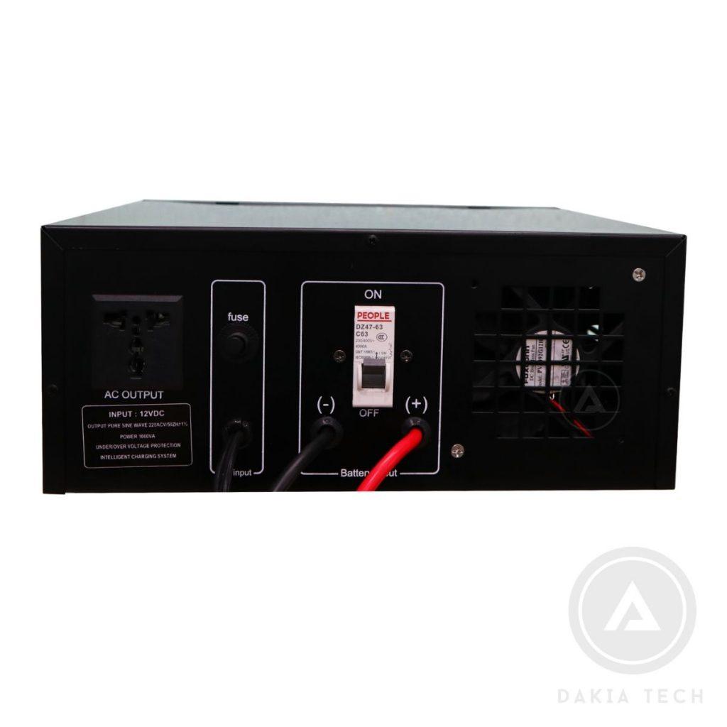 Mặt sau Bộ Lưu Điện UPS SongSin 1000VA 12V - New Model