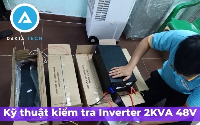 Test Inverter Kano trước khi giao hàng