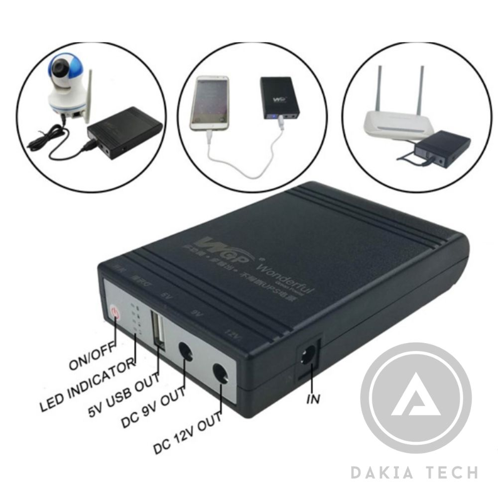 Bộ lưu điện ups wifi 3 cổng nguồn