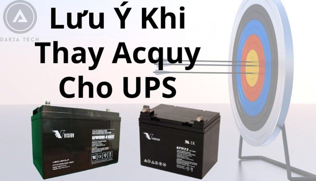 Những Lưu Ý Cần Thiết Khi Thay Thế Acquy UPS