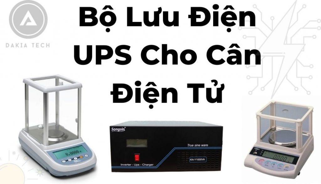 Bộ Lưu Điện UPS Cho Cân Điện Tử Tiệm Vàng