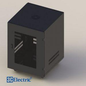 Tủ Rack C-RACK 12U-D600 Tự Đứng Mã 3C-R12B06M