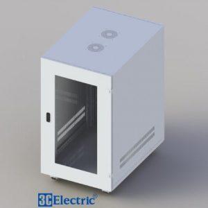 Tủ Mạng C-RACK 20U-D800-Cánh cửa Mica-Màu Trắng
