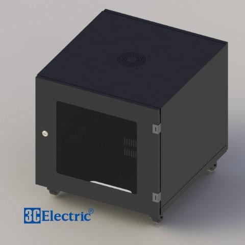 Tủ Mạng C-RACK 10U-D600 Mã 3C-R10B06M