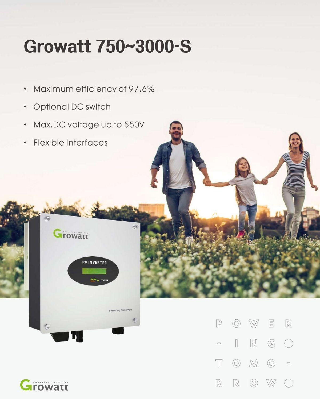 Biến tần hòa lưới inverter Growatt 3kw