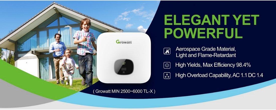 Inverter hòa lưới 1 pha Growatt 5kW