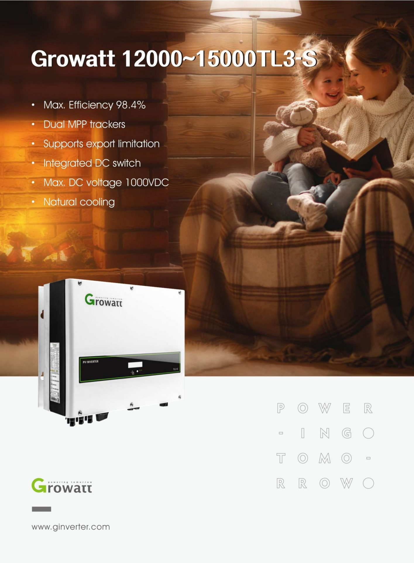 Inverter hòa lưới 3 pha Growatt 12000-15000TL3-S