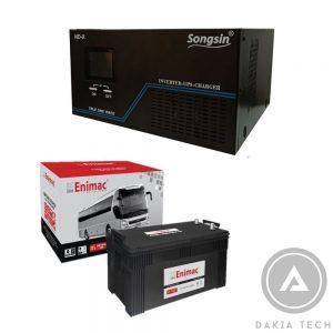 Combo UPS SongSin 1500VA và Acquy Enimac 200Ah Dakia cung cấp