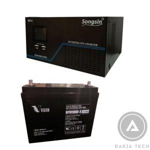 Dakia cung cấp Combo 1UPS SongSin 2KVA-2Acquy Vision 100Ah