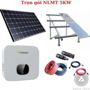 Trọn gói lắp đặt Điện Năng lượng mặt trời hòa lưới 5KW