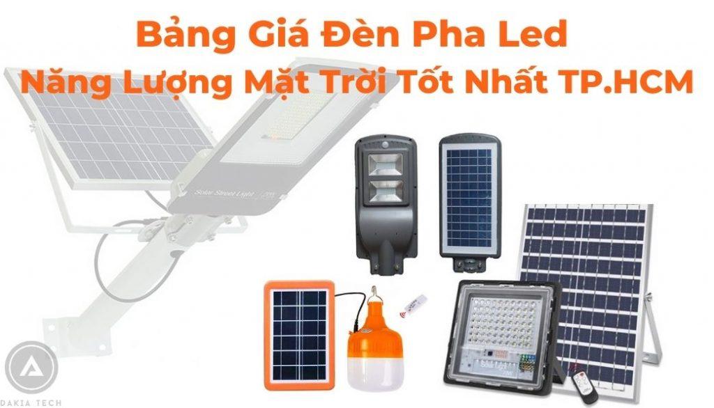 Bảng Giá Đèn Năng Lượng Mặt Trời Jindian TPHCM