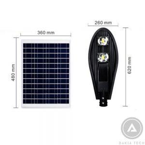Đèn Pha Led Năng Lượng Mặt Trời L-100W
