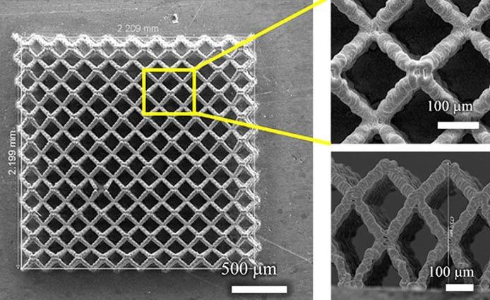 Một điện cực thử nghiệm được in 3D.
