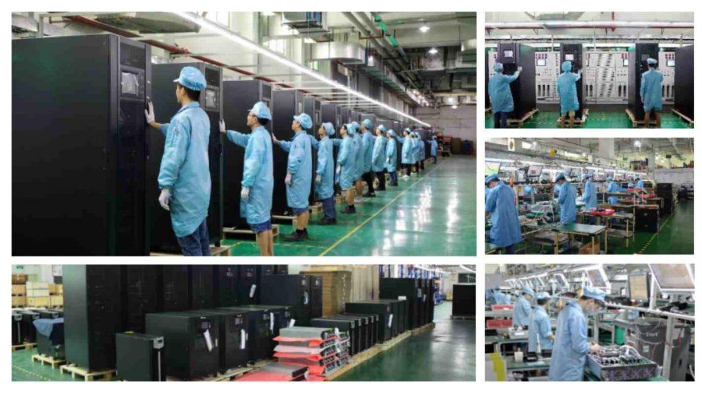 Hình ảnh trong nhà máy sản xuất UPS INVT - Trích từ Tài liệu giới thiệu UPS của INV